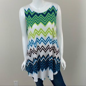 Tops - Plus Size Flowing Sleeveless Tunic